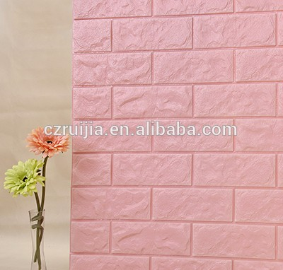 Contact Supplier Chat Now! Living Room Environmental Easy-cleaning Simple Style Wall Stickers 3D Brick Pattern Wallpaper