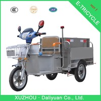 2015 new electirc tricycle garbage waste bin truck with stainless can
