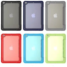 Case for iPad Mini 3 / 2 / 1, Ultra Slim Smart-shell Stand Case with Soft TPU Back Cover for Apple iPad Mini 1 (2012) / iPad Min