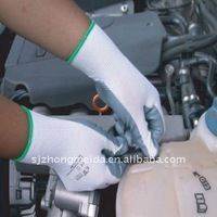 working gloves with nitrile coate