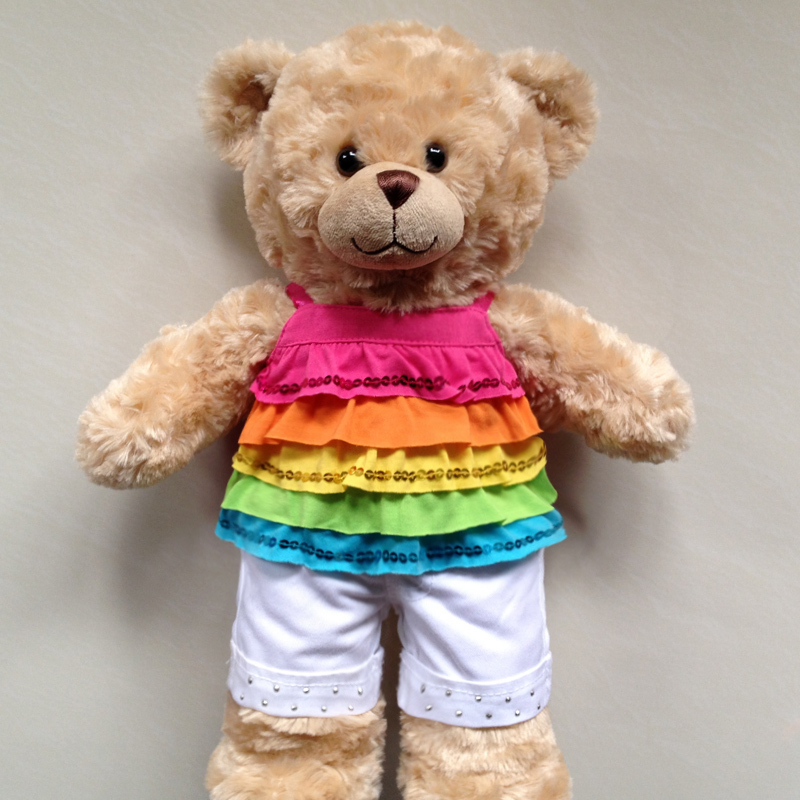 Cute design custom stuffed led teddy bear toy with different styles