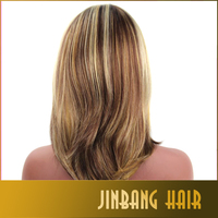 10inches fashion woman's ombre synthetic wigs natural wave straight heat resistant simulation none lace wigs