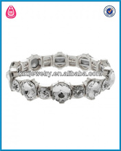 two size faceted round glass stones bracelet making(B103703)