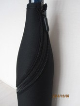 Wine bottle cover with curve zipper