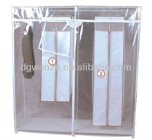 PVC transparent hot selling wardrobe
