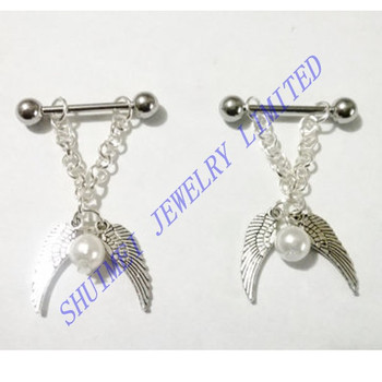 Double Wing Nipple Ring