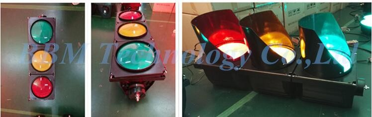 High flux tricolor LED traffic semaphore light