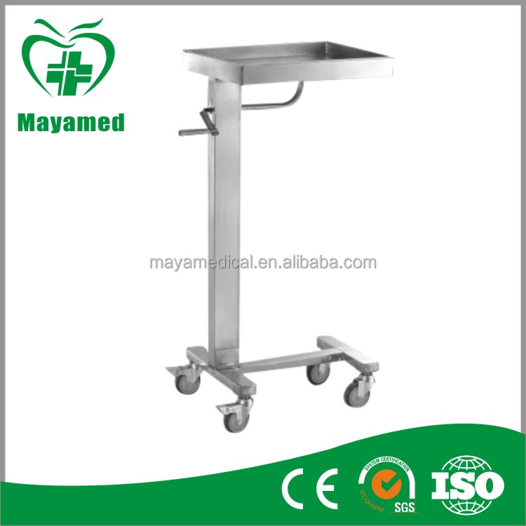 MY-R080 hospital Stainless steel Adjustable Overbed Table