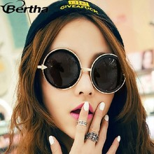 Big Circle Frame Retro Chic Sunglasses Wholesaler 8716