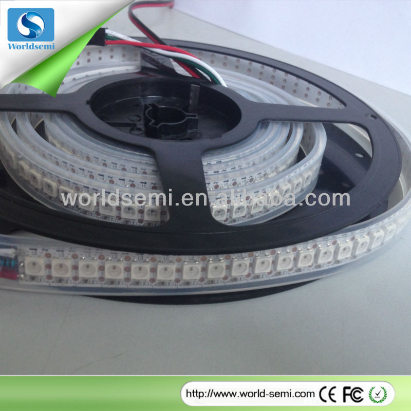 LED dream color strip,1m WS2812B Addressable Color LED Light Strip 144 Pixel 5050 RGB SMD WS2811 IC built-in