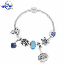 Maida Factory Custom European Jewelry Wholesale India's Silver Bracelet Love Gift For Sister