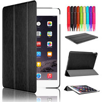 Case for Apple iPad Air 2 (2014 Released) With Magnetic Auto Wake & Sleep Function with Black color