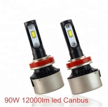 <strong>Car</strong> LED Headlight Bulbs Canbus H1 H3 H4 H7 H11 9005 9006 90W 6000K 12000LM 12V 24V Headlight <strong>Lamp</strong> Super Bright