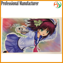 AY Sexy Girl With Animal Big Mouse Pad Printing/ Rubber Base Card Game Play Mat