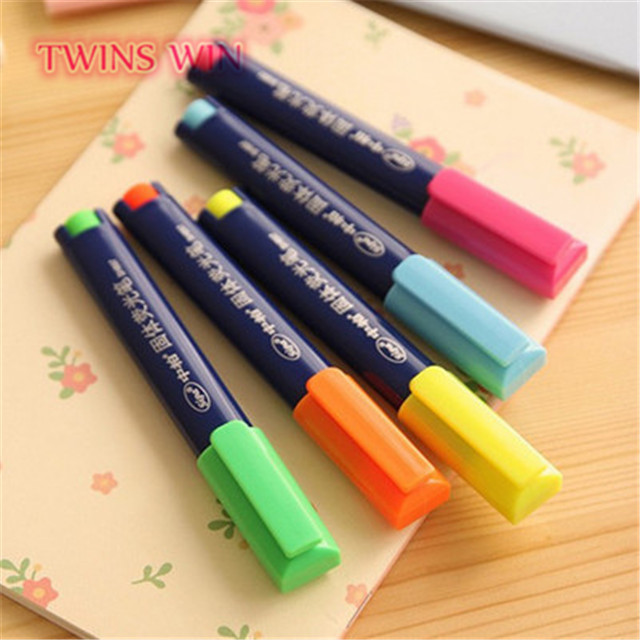 2019 innovative office stationery nice design solid multi color permanent marker pen 047