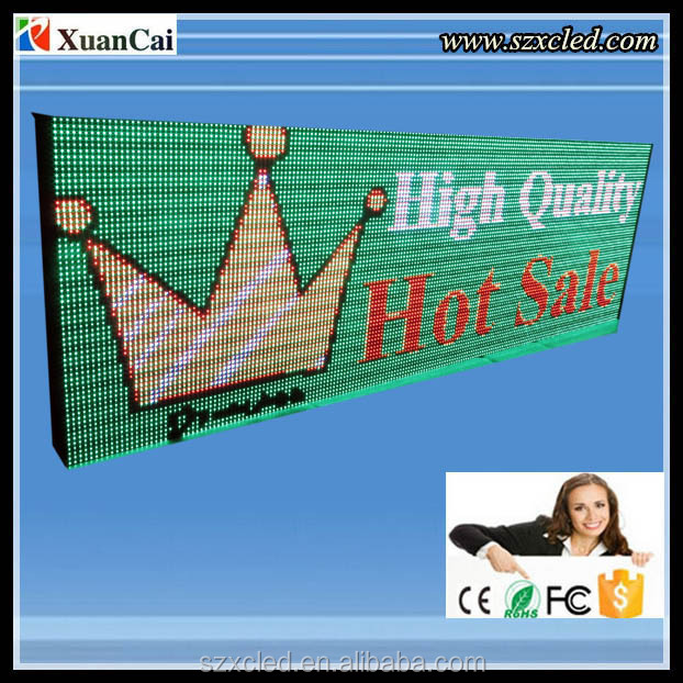 Outdoor RGB 64 X192 dots P10 LED advertising screen