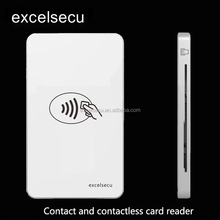 USB Mobie Atm Mini Rfid Id Nfc contactless and contact smart card reader writer