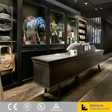 Retail clothes store interior decoration commercial wooden display furniture clothing display showcase
