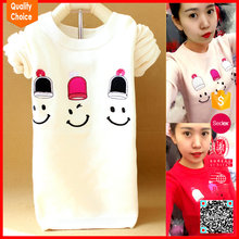 New design knitted pattern cute wool sweater design for girl