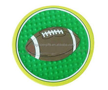 roundness rotundity soft plastic pvc fridge magnet,custom football ball fride magnets