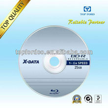25GB 6X Blu ray disc white inkjet printbale