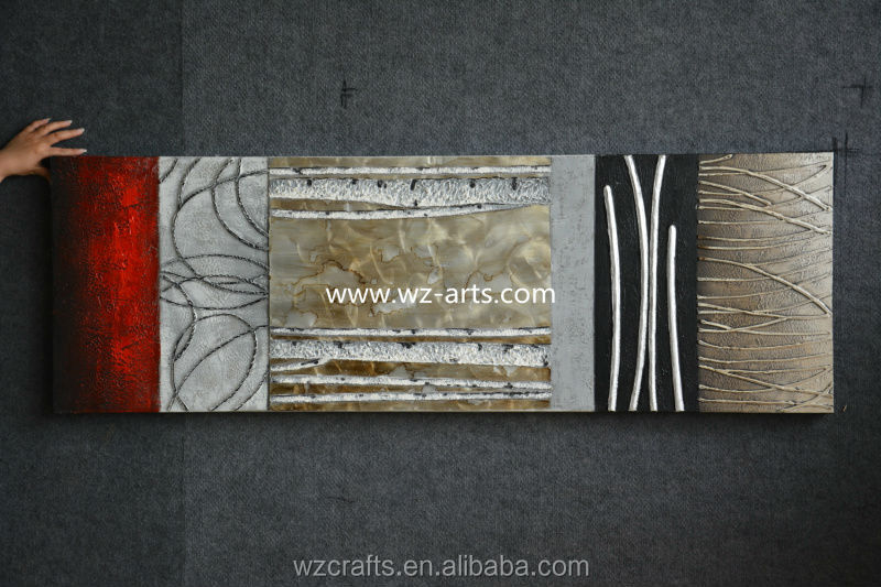 2015 aluminum wall painting sell to Germany