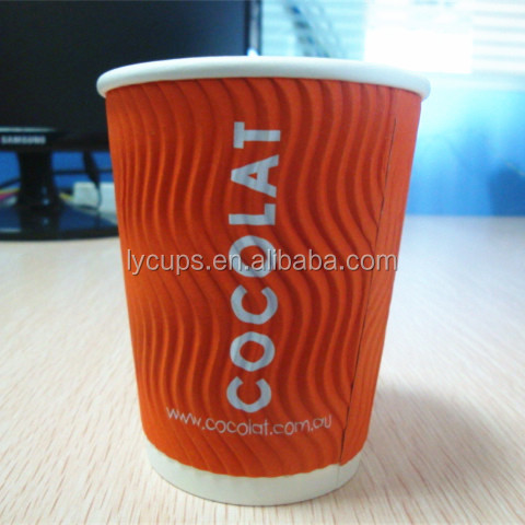 ripple wall printed paper cup in shenzhen