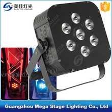 factory price 7x3w rgb 3in1 mini par can led flat stage lighting