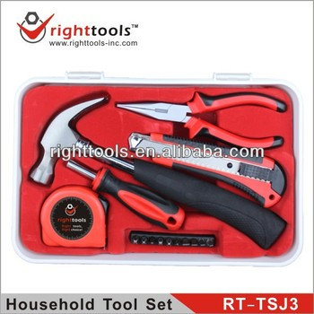 RIGHT TOOLS NEW SET RT-JTSJ3 15 PCS HOUSEHOLD TOOL SET