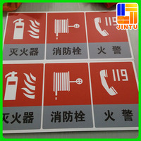 Emergency Exit Sign Board Caution Sign Board PVC Plastic