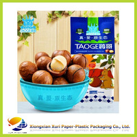 Stand up snack food plastic packaging bag