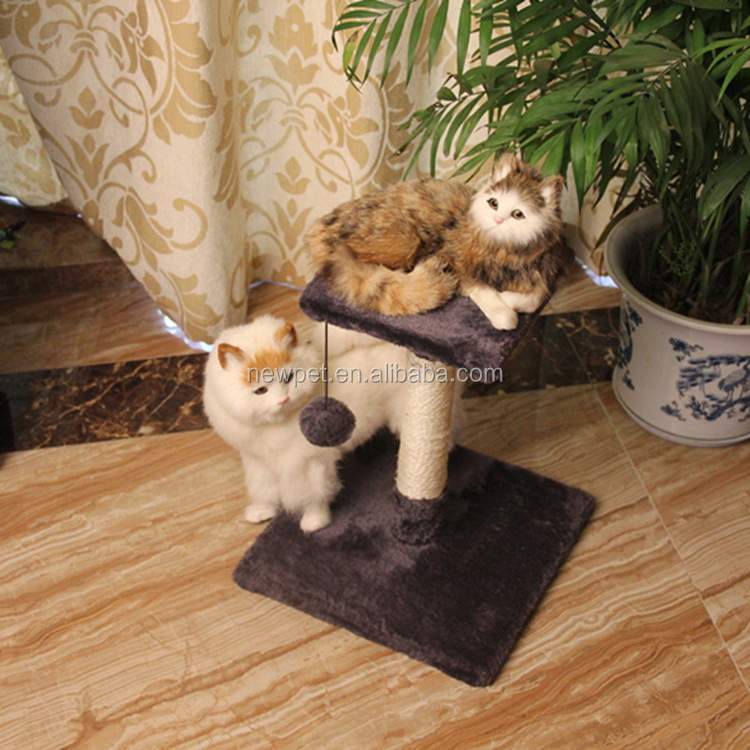 Top grade nice grade column cat tree scratcher toys with catnip