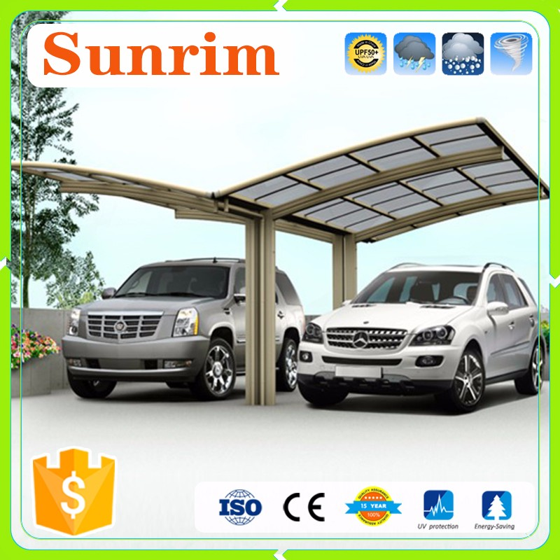 PC Panel Strong Aluminium Garage Container Car Canopy Double Carport