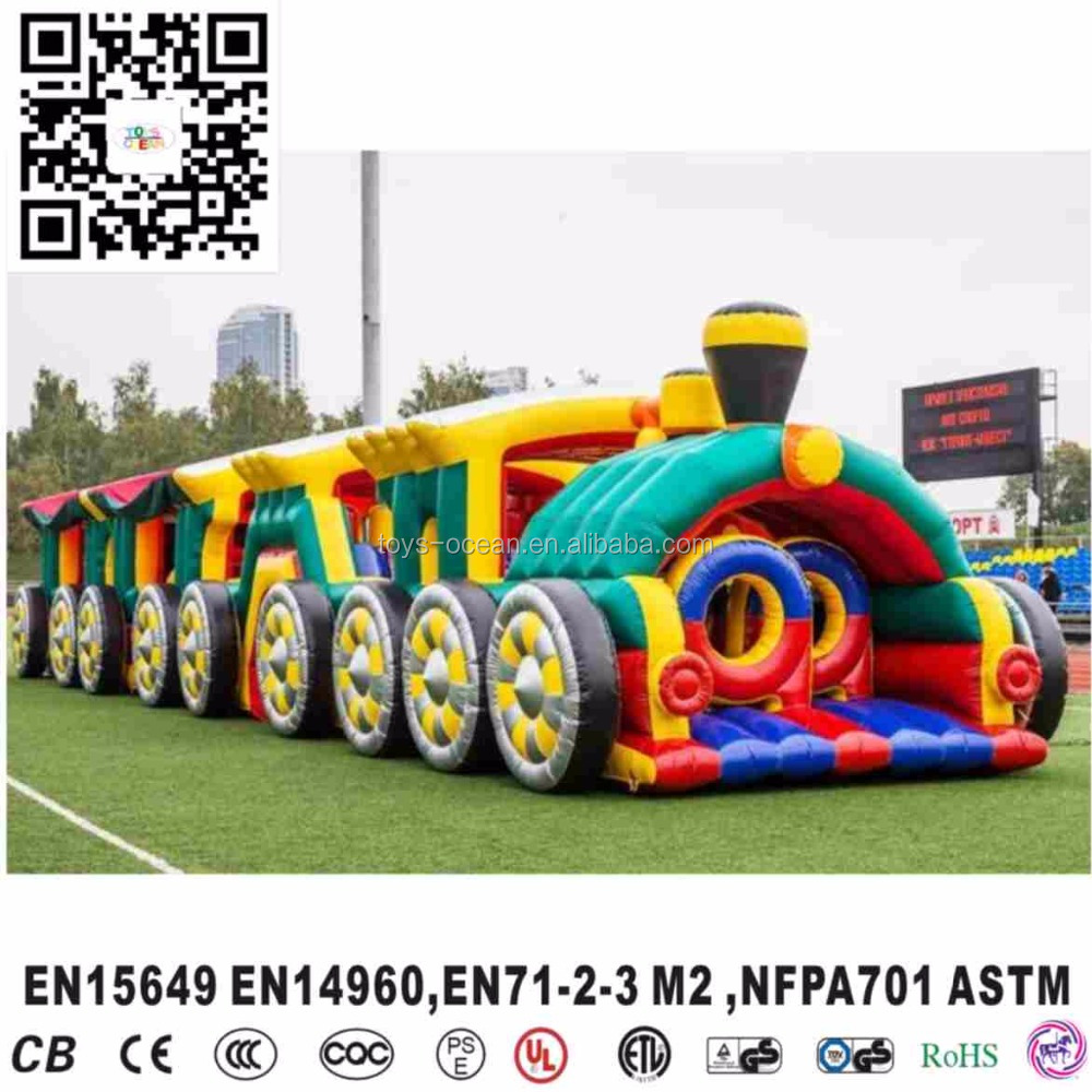Large inflatable Tomas train obstacle combo outdoor playground kids obstacle course