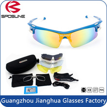 Factory wholesale polarized anti glare cycling glasses prescription bike riders sunglasses online for driving volleyball tennis