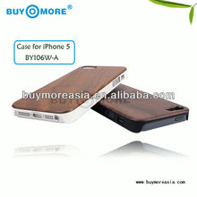 High quality and competitive price wood case for iphone 5 made of walnut wood