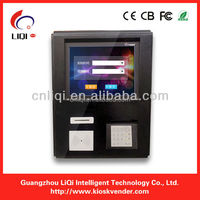 Card reader LCD kiosk vending mechine