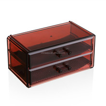 2 drawers cleam plastic jewelry box