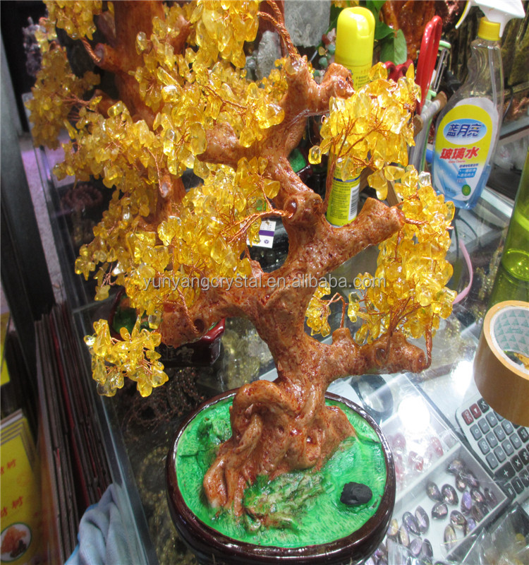 Feng Shui carving crafts cheap crystal gifts crystal trees for decoration
