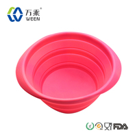 silicone collapsible pet dog bowl dog cat water food feeder bowl folded dog bowl