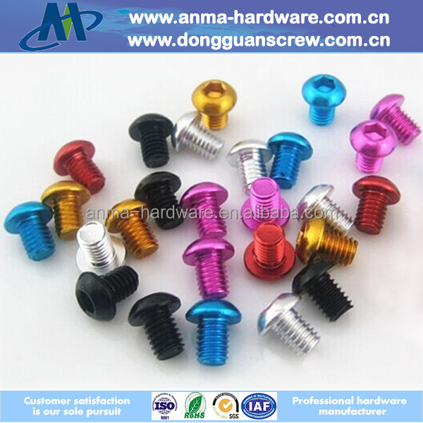 Decorative fasteners /Aluminum Botton head cap socket screws