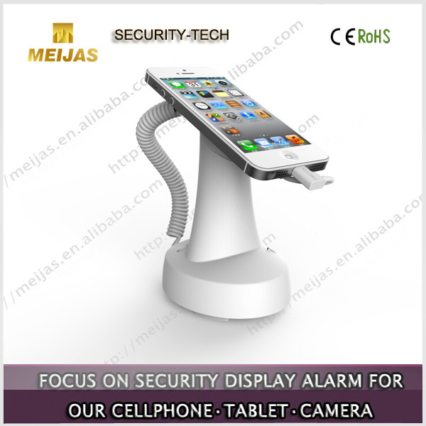 Charging alarm retail shop security display stand for cell phone