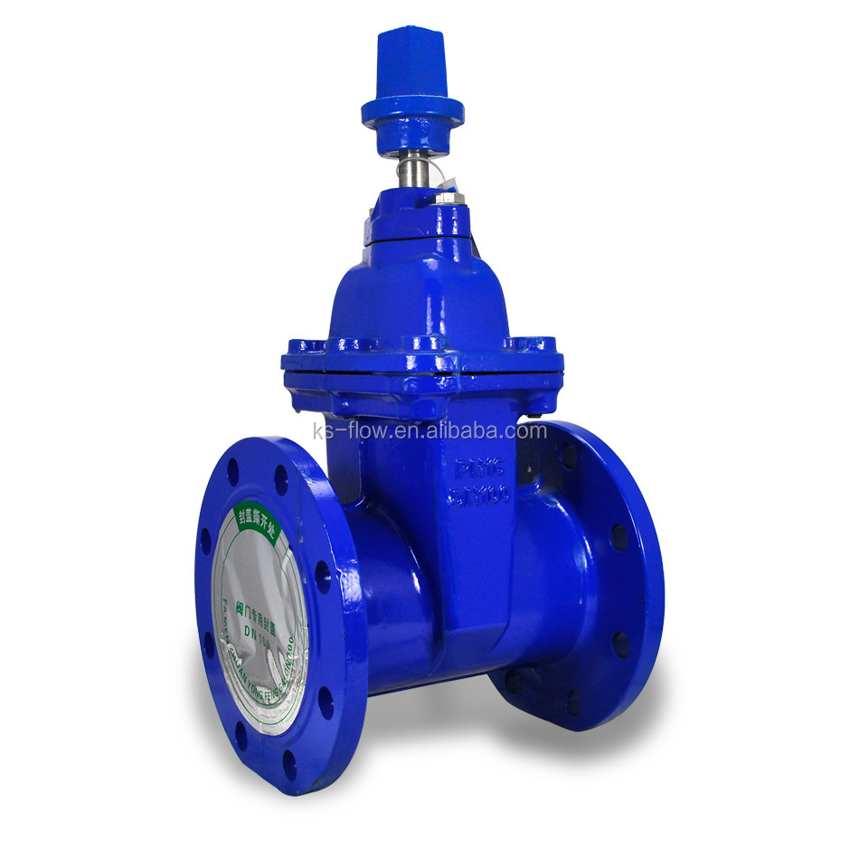 DIN standard Resilient Seated flange Ductile Iron Gate Valve drawing