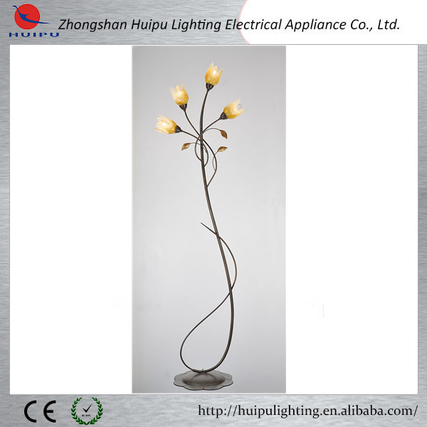 indoor glass flower fancy floor lamp