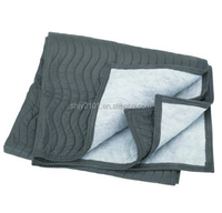 "40"" X 72"" Double Stitched Poly/nonwoven Fabric Mover's Blanket"