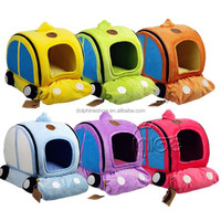 Colorful car shaped dog home cute pet bed for dog soft plush stuffed memory foam pet bed
