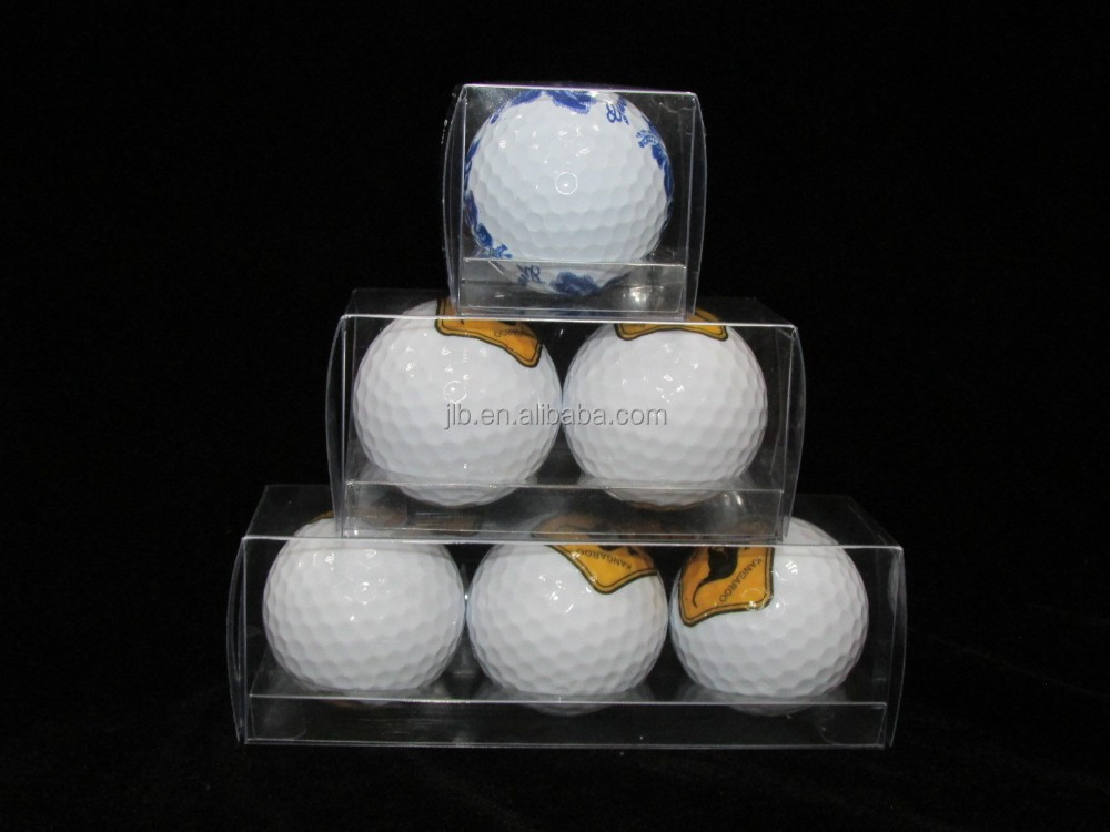Custom PVC Clear golf ball plastic packaging box