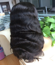 Alibaba hot sale body wave virgin brazilian human hair lace front wig