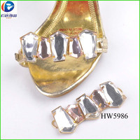 charm decorating clear glass ornament for summer shoes 2015