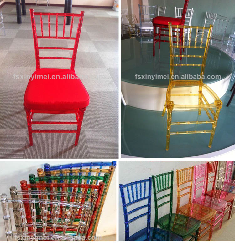 wholesale transparent ice resin acrylic dining chairs